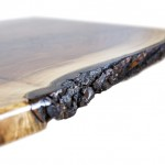 Black Walnut Living Room Table Detail