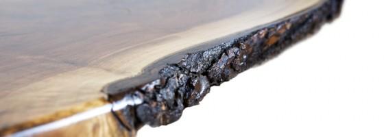 Black Walnut Living Room Table Detail